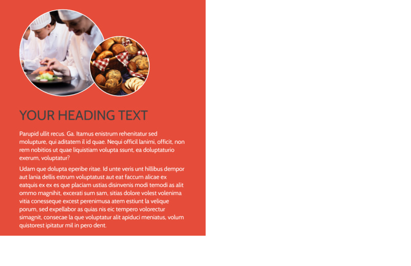 Oven Door Catering Service Postcard Template Preview 3