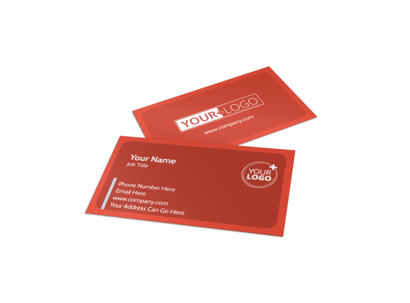 Oven Door Catering Service Business Card Template Preview 1