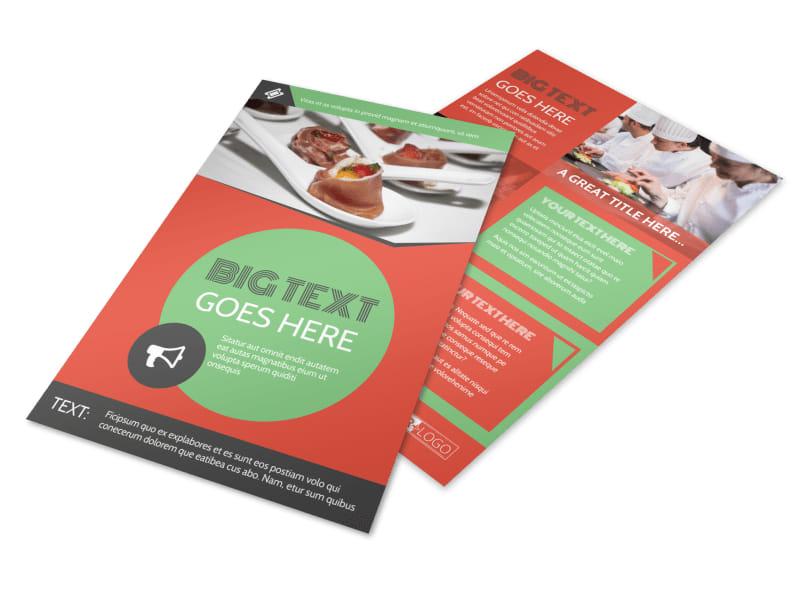 Oven Door Catering Service Flyer Template