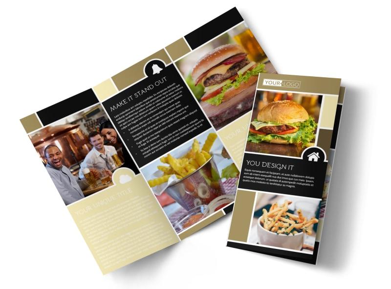 Great Burger Tri-Fold Brochure Template