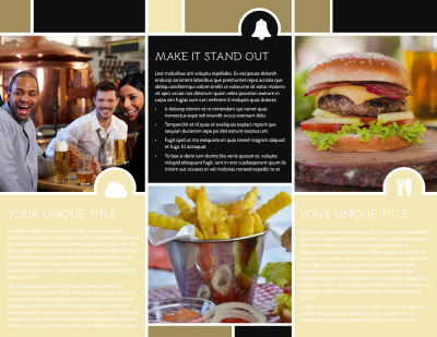 Great Burger Brochure Template Preview 2