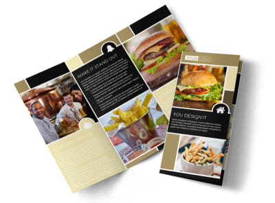 Great Burger Tri-Fold Brochure Template