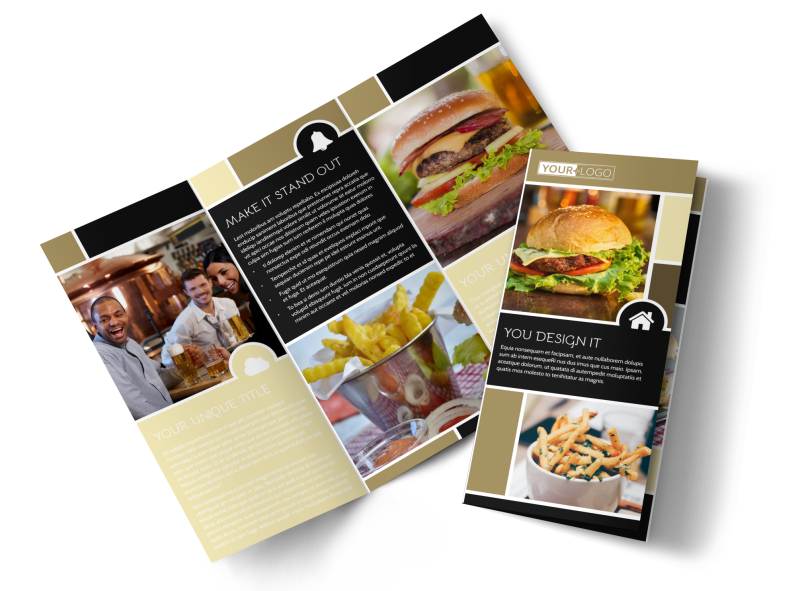 Great Burger Brochure Template Preview 1
