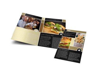 Great Burger Bi-Fold Brochure Template