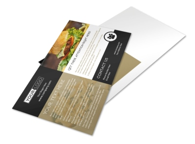 Great Burger Postcard Template preview