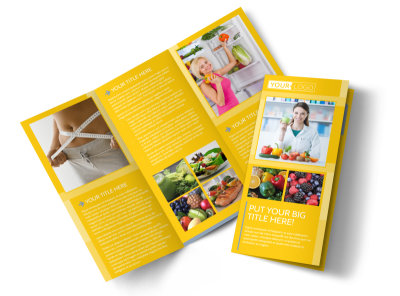 Start Today Nutrition Tri-Fold Brochure Template preview