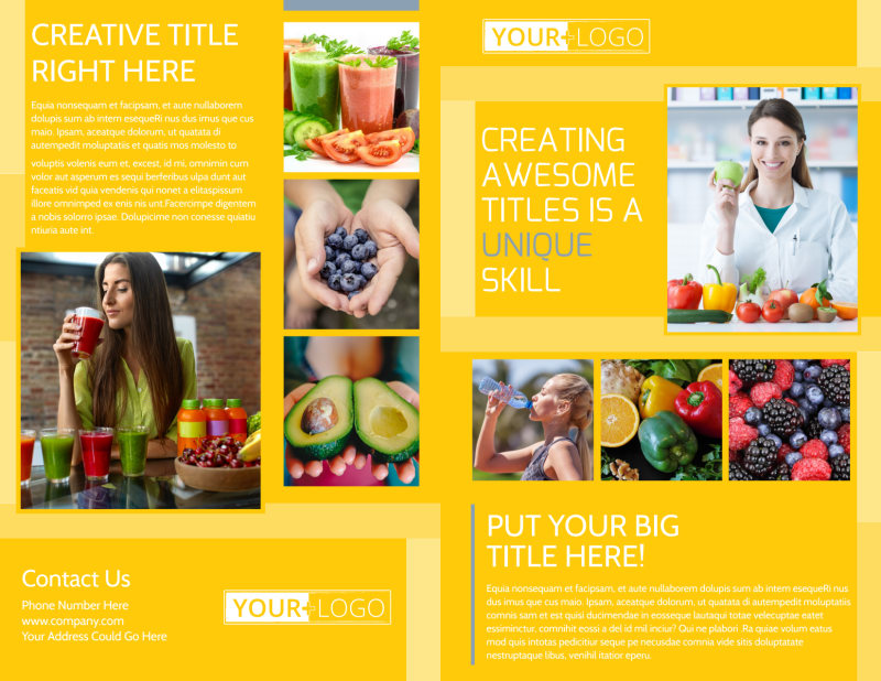 Start Today Nutrition Brochure Template Preview 2