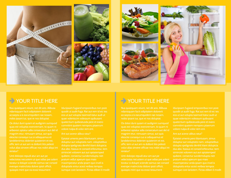 Start Today Nutrition Brochure Template Preview 3