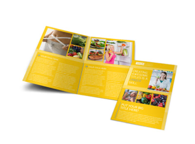 Start Today Nutrition Bi-Fold Brochure Template