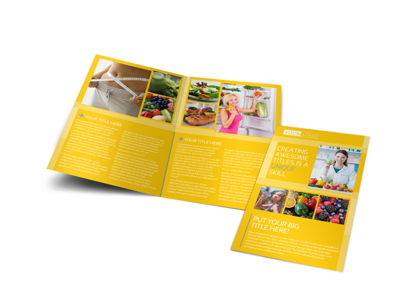 Start Today Nutrition Brochure Template Preview 1