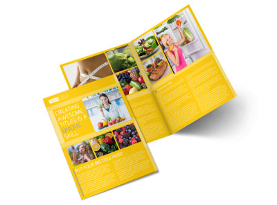 Start Today Nutrition Bi-Fold Brochure Template preview