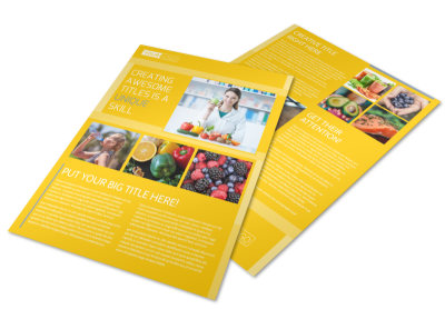 Start Today Nutrition Flyer Template