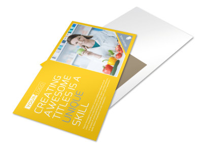 Start Today Nutrition Postcard Template preview