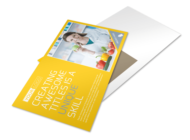 Start Today Nutrition Postcard Template Preview 1
