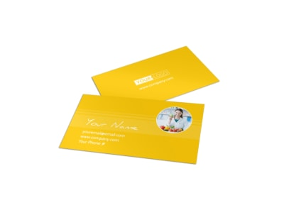 Start Today Nutrition Business Card Template preview