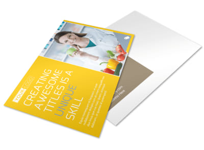 Start Today Nutrition Postcard Template