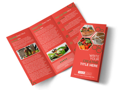 Nutrition Experts Tri-Fold Brochure Template preview