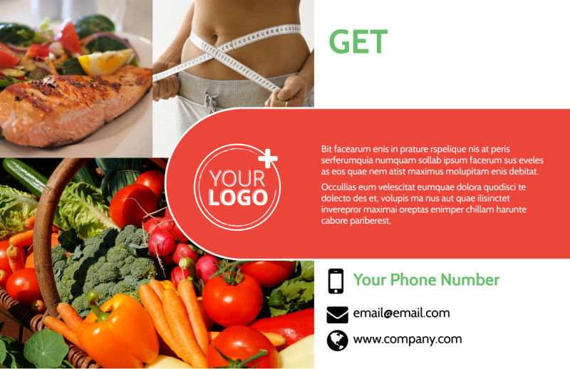 Nutrition Experts Postcard Template Preview 2