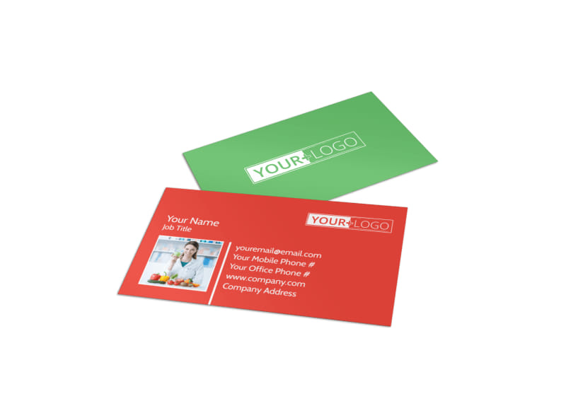 Nutrition Experts Business Card Template