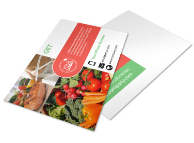 Nutrition Experts Postcard Template 2