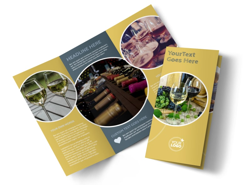 Wine & Spirits Tri-Fold Brochure Template