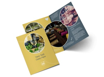 Wine & Spirits Bi-Fold Brochure Template