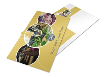 Wine & Spirits Postcard Template preview