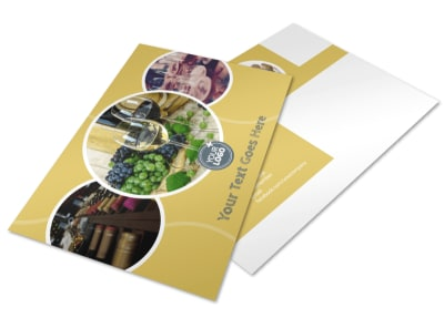 Wine & Spirits Postcard Template