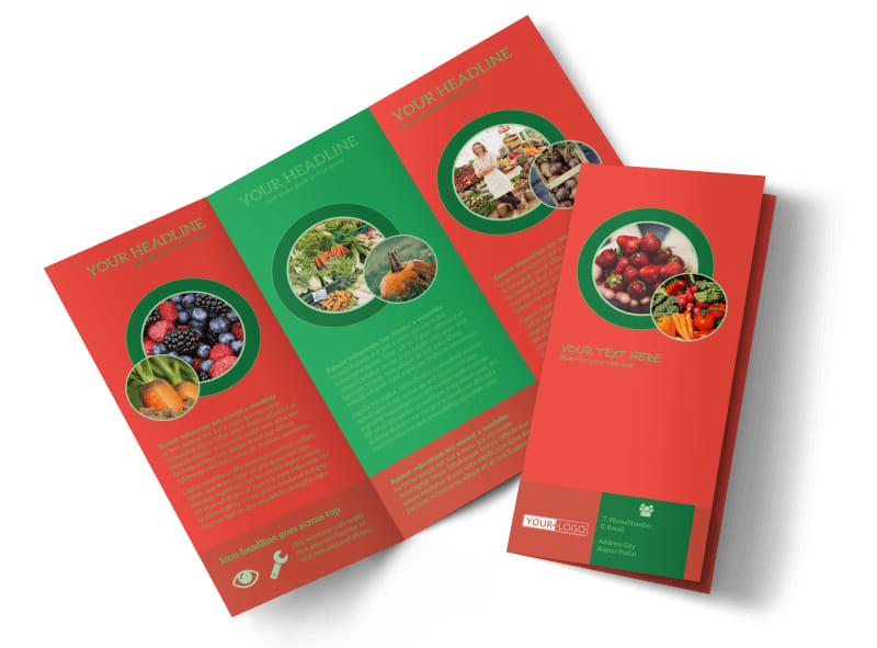 Fresh Food Co-op Tri-Fold Brochure Template
