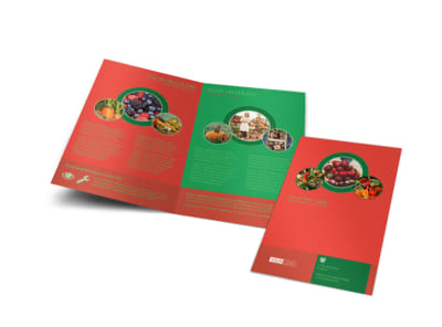 Fresh Food Co-op Bi-Fold Brochure Template