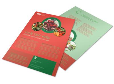 Fresh Food Co-op Flyer Template