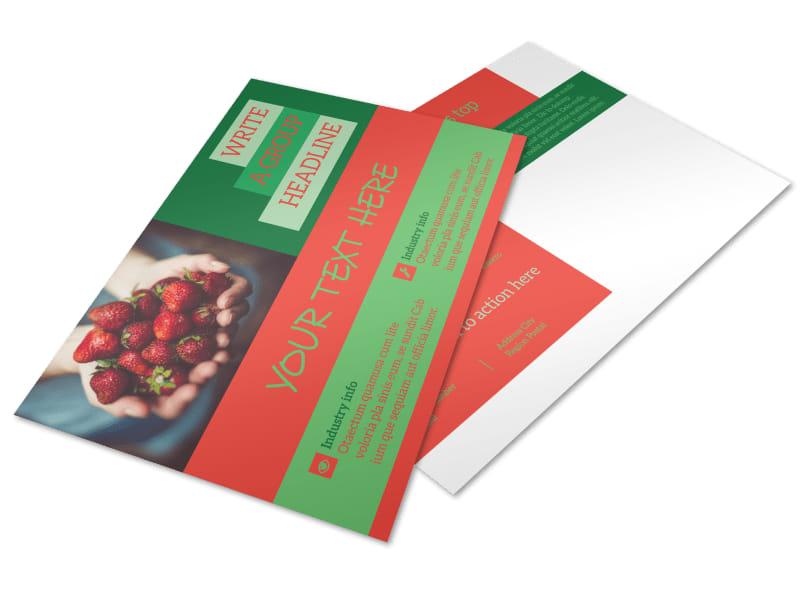 Fresh Food Co-op Postcard Template