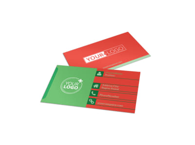 Fresh Food Co-op Business Card Template