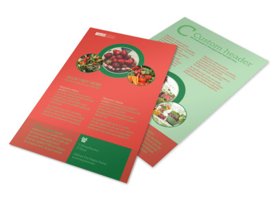 Fresh Food Co-op Flyer Template