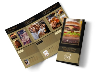 Bar & Grill Tri-Fold Brochure Template