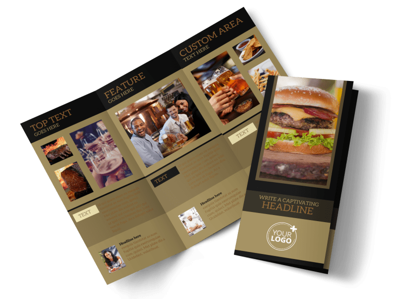 Bar & Grill Brochure Template Preview 1