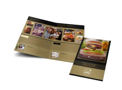 Bar & Grill Bi-Fold Brochure Template