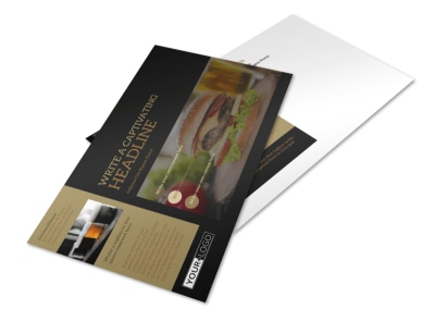 Bar & Grill Postcard Template preview