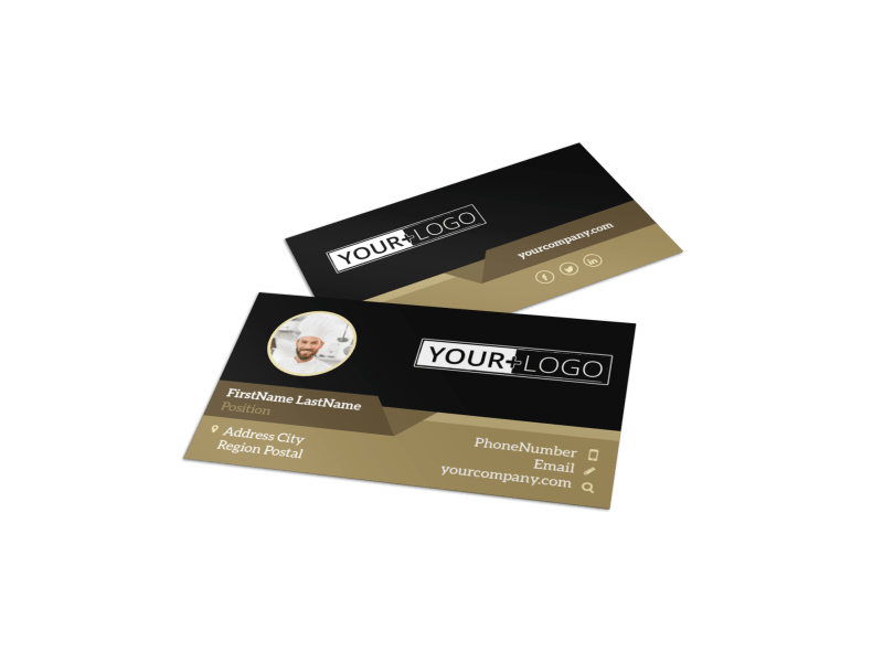 Bar & Grill Business Card Template Preview 1