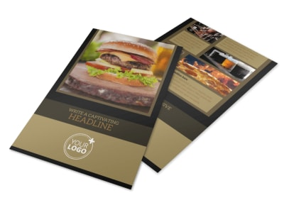 Bar & Grill Flyer Template preview