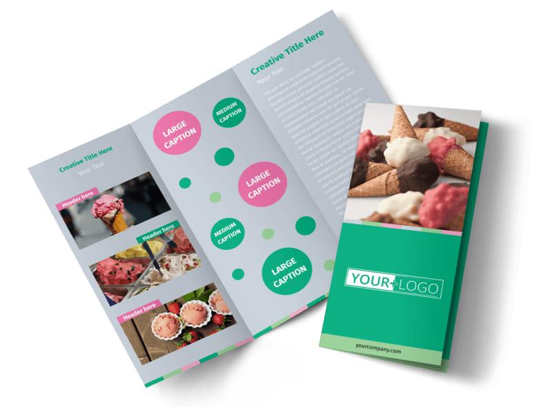 Ice Cream Shop Tri-Fold Brochure Template