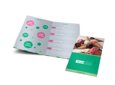 Ice Cream Shop Bi-Fold Brochure Template