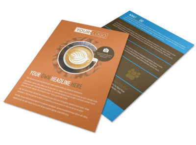 Hot Coffee Shop Flyer Template preview