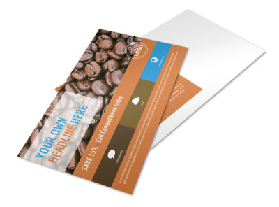 Hot Coffee Shop Postcard Template preview