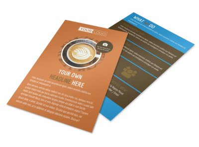 Hot Coffee Shop Flyer Template