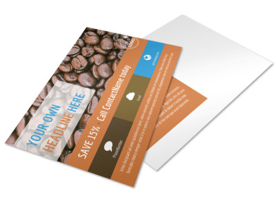 Hot Coffee Shop Postcard Template