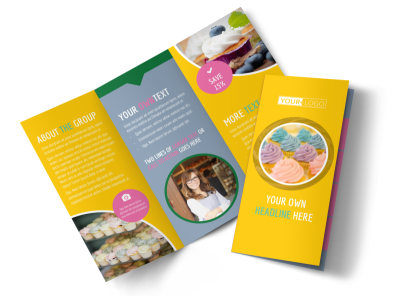 Sweet Cupcake Shop Tri-Fold Brochure Template