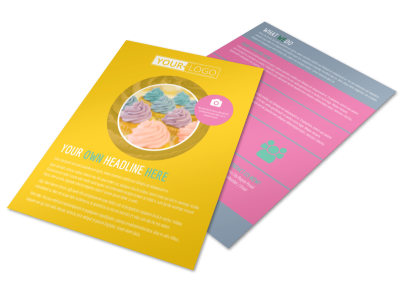 Sweet Cupcake Shop Flyer Template