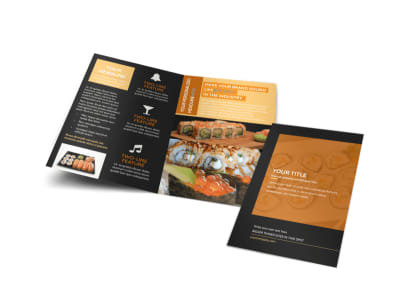 Cool Sushi Bi-Fold Brochure Template preview