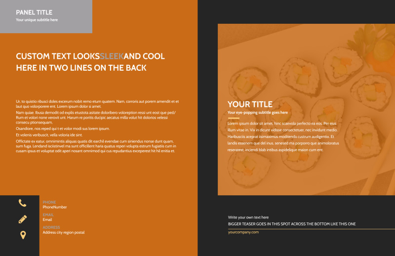 Cool Sushi Brochure Template Preview 2